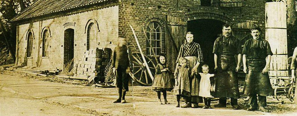 Historisches Foto einer Schmiede