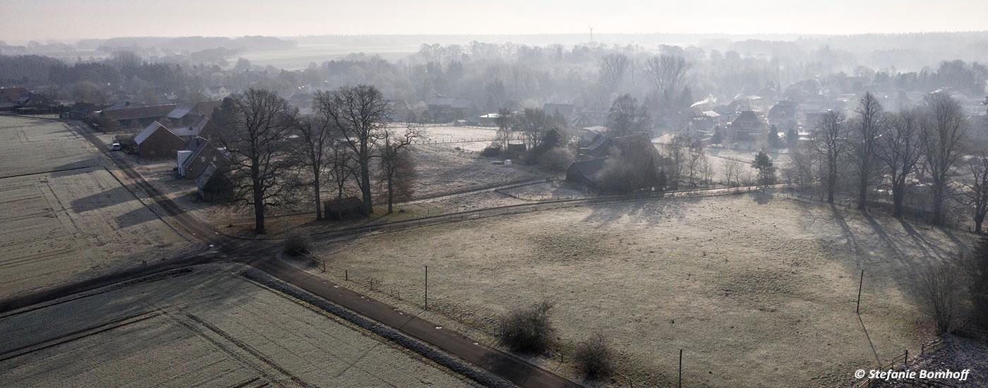 Luftfoto Neubruchhausen am Wintermorgen